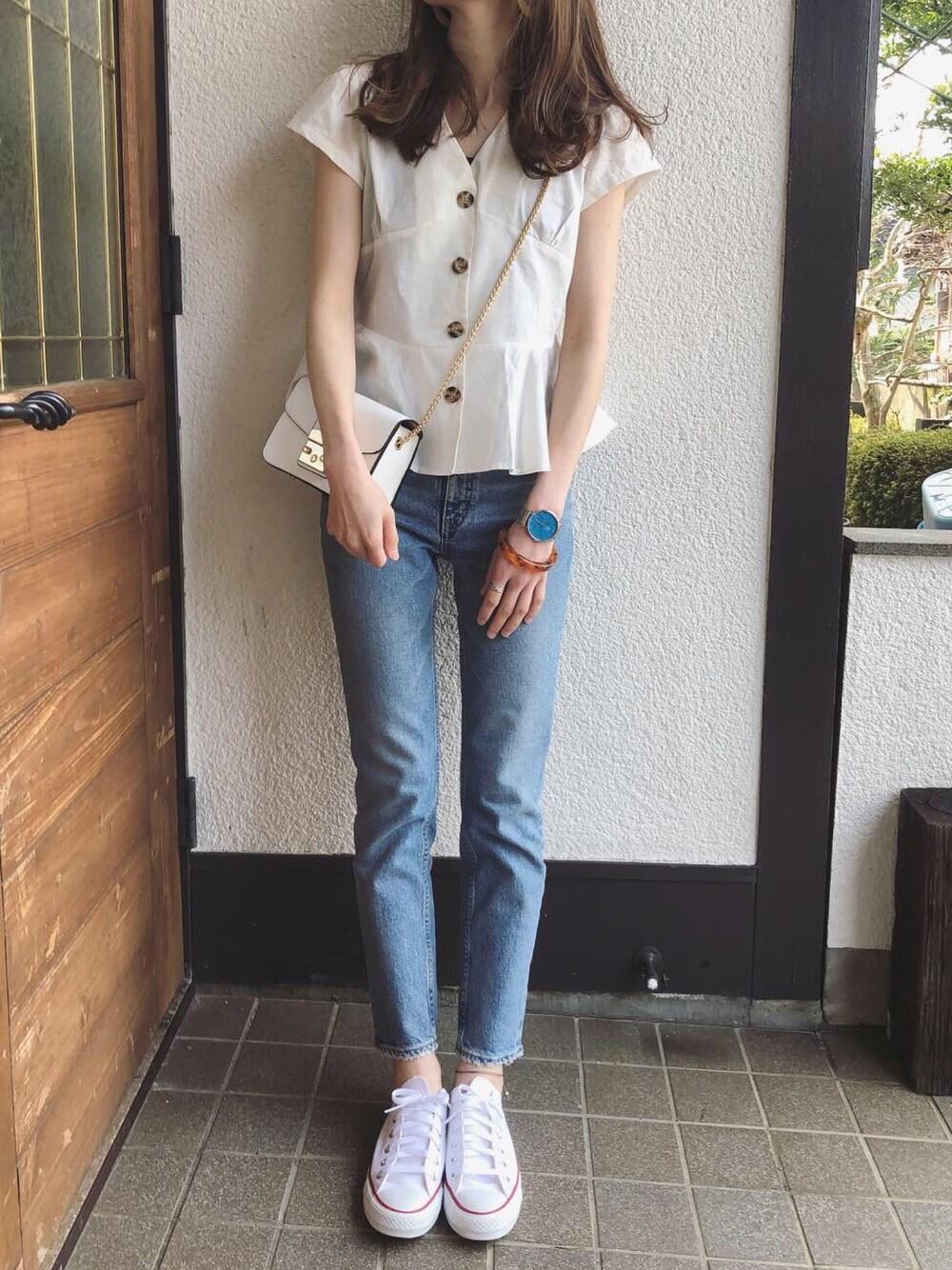 爽やか ファッション コーデ ママ 30代