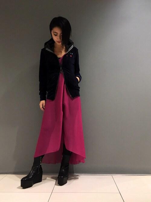 yurina katsuraさんの「FranCisT_MOR.K.S./フランシストモークス/OPAL STAR PK/オパール スターパーカー(FranCisT_MOR.K.S.)」を使ったコーディネート