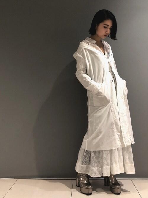 yurina katsuraさんのキャミソール「stud.[スタッド]KYAMI LACE(stud.|スタッド)」を使ったコーディネート