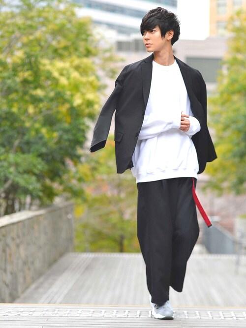 MONO-MARTむさしさんのテーラードジャケット「T/R 2B ストレッチ テーラードジャケット(MONO-MART)(MONO-MART モノマート)」を使ったコーディネート