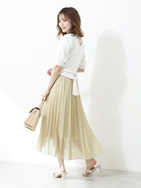 PROPORTION BODY DRESSING|PROPORTION STAFFさんの「バックリボンレースアップニット(PROPORTION BODY DRESSING)」を使ったコーディネート
