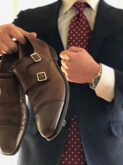Hige-chiri氏がWEARに投稿したコーデ|しっかりとしたドレス感があって、それでいて普段の靴ひもとも違う。ほどよく個性を出してみたい。お洒落を演出してみたいときにこれほど便利なアイテムもありませんね。