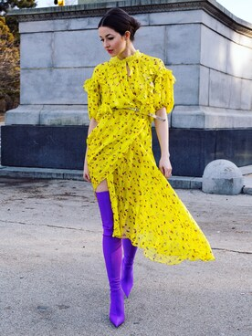 "Yulia F. Kirpalani is wearing Preen by Thornton Bregazzi ""Preen By Thornton Bregazzi Margot Floral Dress"""