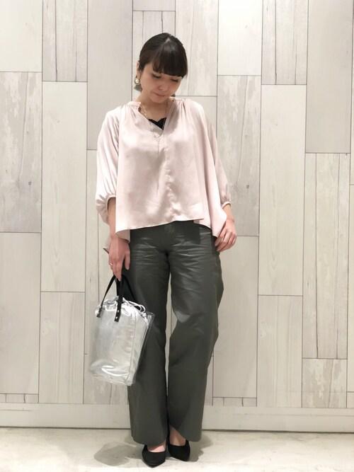 www.Q shop.jp Qひたちなかファッションクルーズ店ISHIIさんのネックレス「スネークY字ネックレス(Q|キュー)」を使ったコーディネート