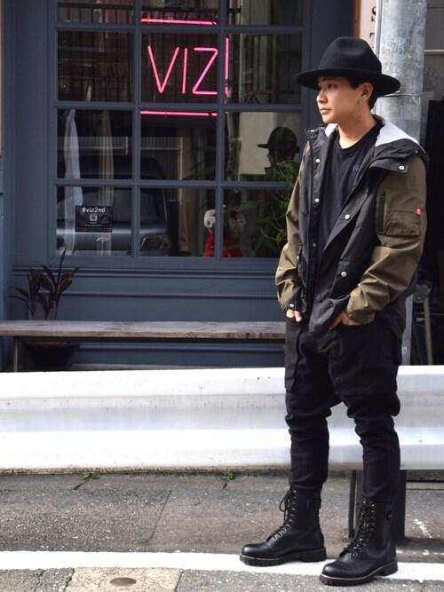 VIZ STORE-TOKYORyanさんのブーツ「MILITARIA BEHIND SPECIAL BOOTS(VIRGOwearworks|ヴァルゴウェアワークス)」を使ったコーディネート