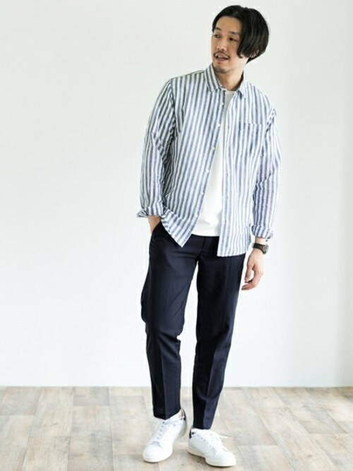 Taniさんの「DOORS 綿麻Long Sleeve Shirts(URBAN RESEARCH DOORS MENS)」を使ったコーディネート