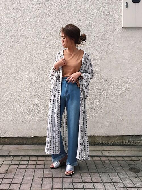 UNRELISH 広島PARCO店ishida_meiさんのTシャツ/カットソー「2WAYツイストカットソー(UNRELISH アンレリッシュ)」を使ったコーディネート