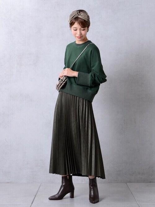 #1 ロングスカート×ブーツのコーデ