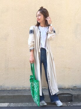 mikiviciousさんの「EMBROIDERY DRESS(MOUSSY)」を使ったコーディネート