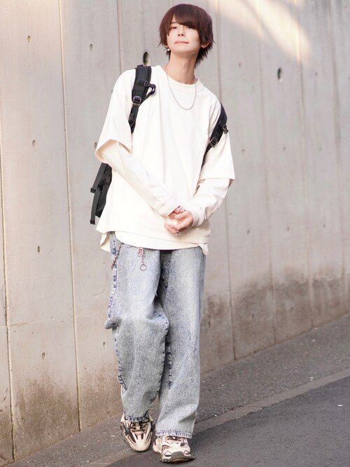 KEIさんの「フェイクレイヤードビッグTシャツ【coen × Mr.SZK】(coen by Mr.SZK)」を使ったコーディネート