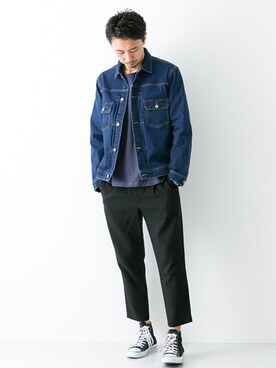 URBAN RESEARCH ROSSO|Juniyaさんの「ROSSO MEN 2WAYストレッチパンツ(URBAN RESEARCH ROSSO MEN)」を使ったコーディネート