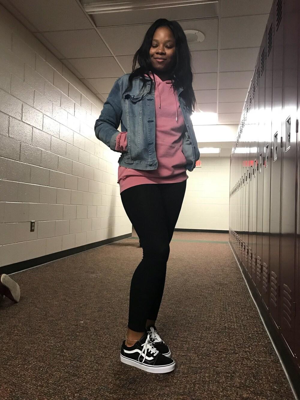 girl wearing vans shoes