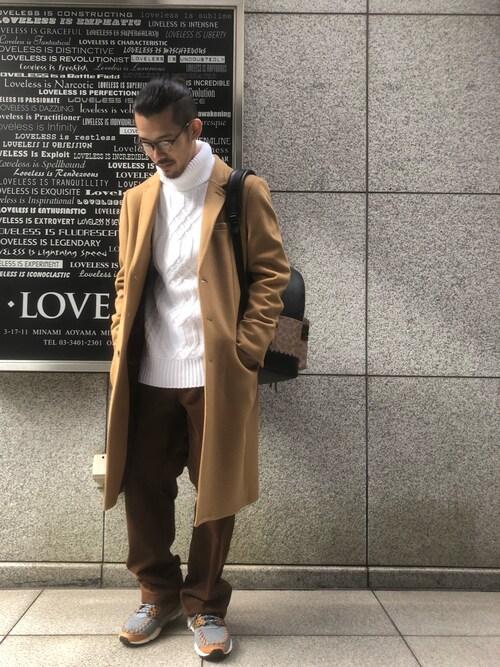 LOVELESS青山yamauchiさんのチェスターコート「【LOVELESS】チェスターフィールドコート(LOVELESS|ラブレス)」を使ったコーディネート