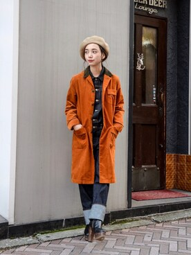 kodona|仲西さほみさんの「FACETASM - Switching Design Soutiencollar Coat ¥18500+tax(FACETASM)」を使ったコーディネート