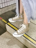 "mayu.t is wearing CONVERSE ""CONVERSE ALL STAR COLORS HI (ベージュ)"""