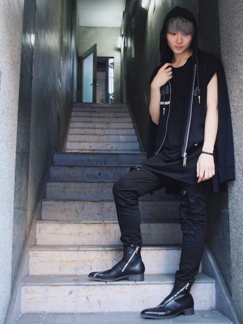 ROYAL FLASH 梅田Azuma Yuhoさんのブレスレット「gunda/ガンダ/BUBBLE SV BLACK BR(gunda|ガンダ)」を使ったコーディネート