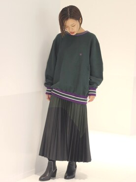 JOINT WORKS新宿店|minori haruyamaさんの「champion reverse weave c/n sweat(JOINT WORKS)」を使ったコーディネート