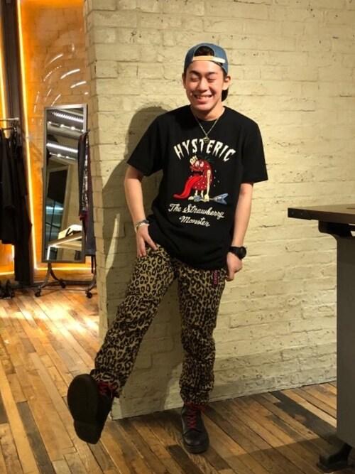 HYSTERIC GLAMOURルクア大阪店カンジさんのバングル/リストバンド「NIGHTCLUBBING バングル(HYSTERIC GLAMOUR|ヒステリックグラマー)」を使ったコーディネート