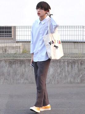 9119cea1520a3 ろむしさんの「ルーズネックストライプシャツ(JUNRed ジュンレッド)」. 2019.5 14 · MAISON KITSUNE(メゾンキツネ)  ...