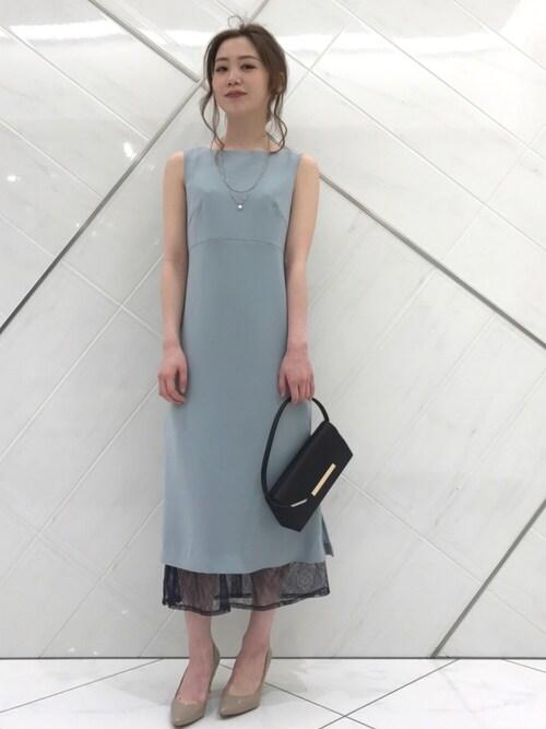 50代 ロングドレス