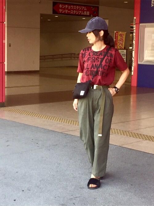 秋色カラー 夏コーデ
