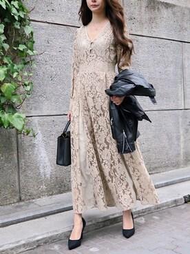 7c07ce5db8c6f EC事業部|shiokoさんの「lace line design dress(My shawty|