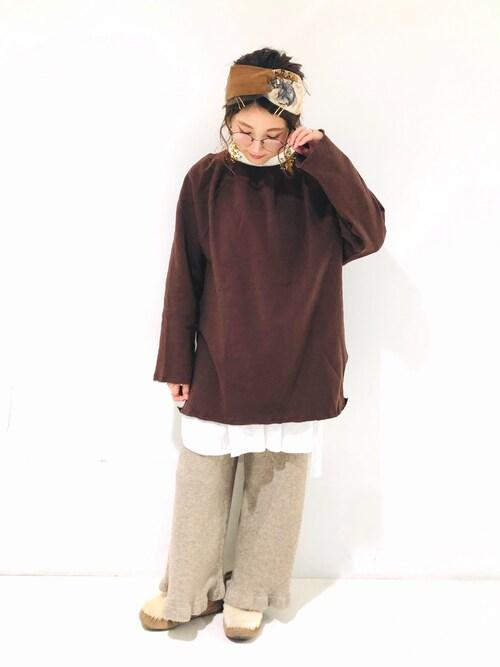 Crisp静岡店asukaさんのシャツ/ブラウス「カームタックチュニック(Crisp|クリスプ)」を使ったコーディネート