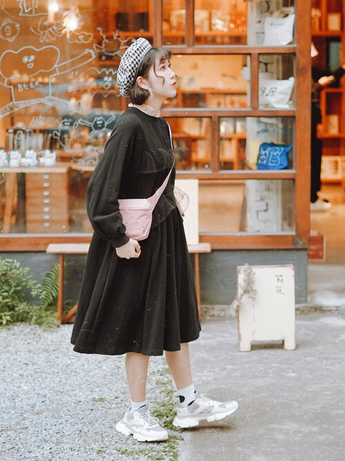 "33 is wearing Candy Stripper ""DOUBLE FRILLED  ワンピース"""