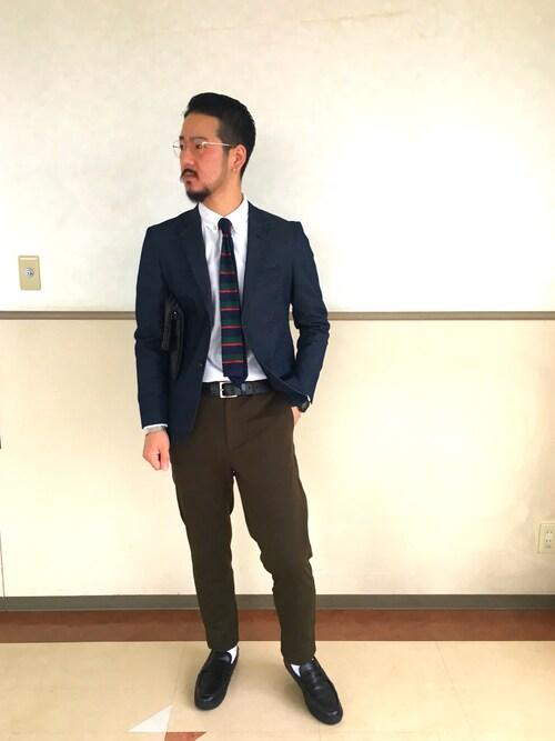 THE SHOP TK 熊本ゆめタウン光の森S-GOさんのテーラードジャケット「スーパーストレッチデニムジャケット(THE SHOP TK |ザ ショップ ティーケー )」を使ったコーディネート