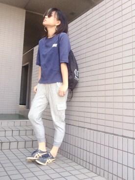 Gu スウェットイージーカーゴパンツを使ったレディース人気ファッションコーディネート Wear