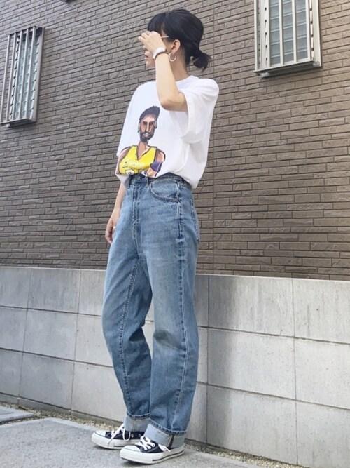 プリントTシャツ デニム