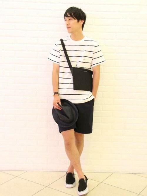 adachiさんの「<別注>ボーダーポケットTシャツ MEN(Scye)」を使ったコーディネート