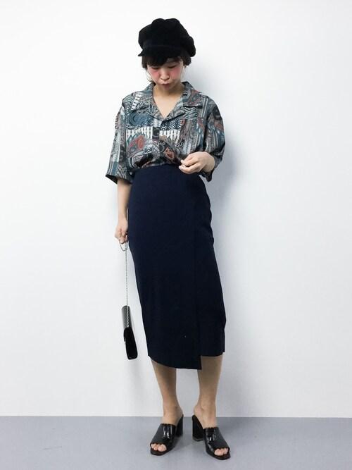 ZOZOTOWNnaoさんのシャツ/ブラウス「ORIENTAL PATTERN オープンカラー半袖シャツ(LEGENDA|レジェンダ)」を使ったコーディネート