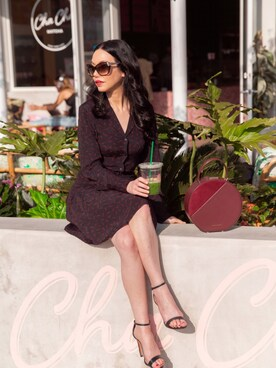 "lisavm is wearing SCHUTZ ""Schutz Cadey-Lee Leather Ankle-Strap Sandal, Black"""