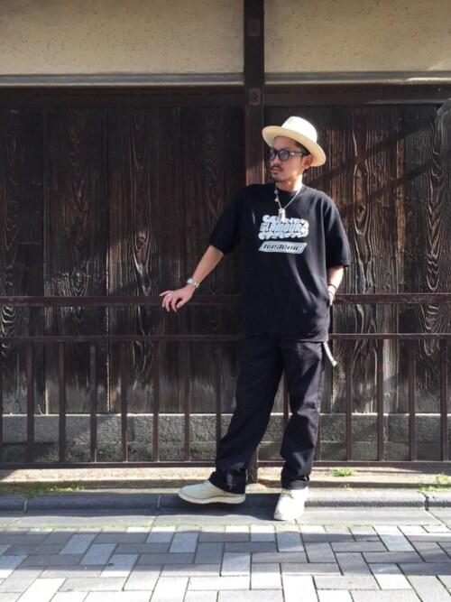 HYSTERIC GLAMOUR京都店京都くんさんのベルト「LOGO テープベルト(HYSTERIC GLAMOUR|ヒステリックグラマー)」を使ったコーディネート