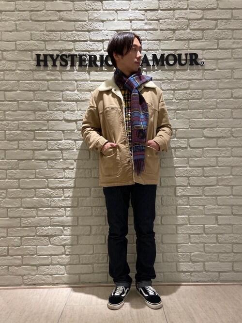 HYSTERIC GLAMOUR名古屋店HIDEさんのデニムパンツ「デニムスリムストレートパンツ(HYSTERIC GLAMOUR ヒステリックグラマー)」を使ったコーディネート