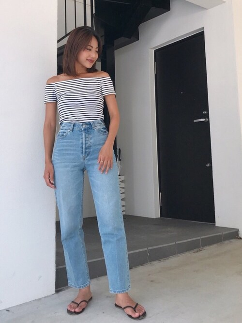 Vicente Official OfficeVicente👖?さんのデニムパンツ「Vicente center press straight denim(Vicente|ヴィセンテ)」を使ったコーディネート
