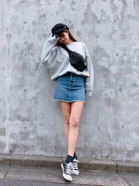 Vicente Official Office|Vicente🌈タイムセール中🌈さんの「Vicente denimskirt(Vicente)」を使ったコーディネート