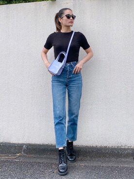 Vicente Official Office|Vicente🌈セール開催中🌈さんの「Vicente center press straight denim(Vicente)」を使ったコーディネート