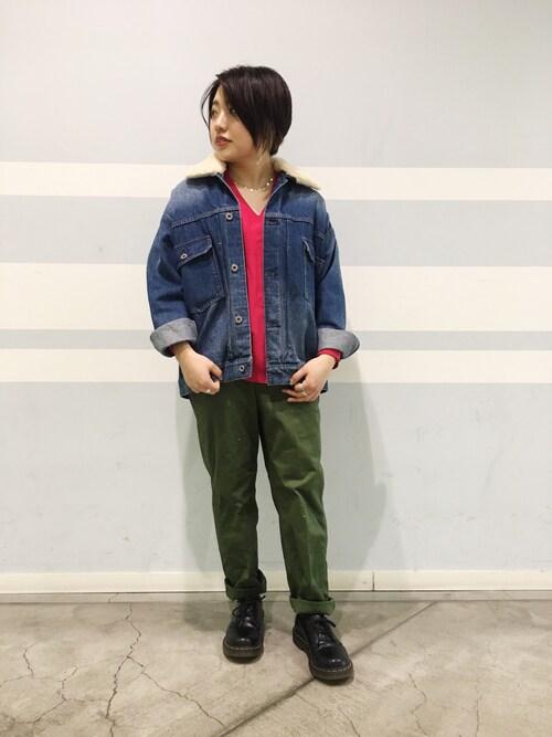 Uncut Bound 札幌Hiyoriさんのデニムジャケット「Rinajour(リナジュール)   3WAY Gジャン(Rinajour|リナジュール)」を使ったコーディネート