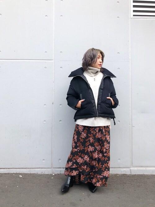 Uncut Bound 新宿Hiyoriさんのダウンジャケット/コート「DUNO (ドュノ) HEREN ショートダウンジャケット(DUNO|デュノ)」を使ったコーディネート