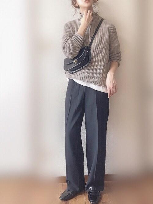 ぴょんさんのニット/セーター「Libra ルーズフィットニット(Libra|リブラ)」を使ったコーディネート