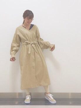 d1f234202d16a wcloset ららぽーとTOKYO-BAY店|mitsuhashi kahoさんのワンピース「麻レーヨン羽織 · w closet(ダブルクローゼット)  ...