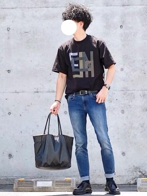 しゅんたろーさんの「【CLANE×Lui's/クラネ×ルイス】 ロゴ Tシャツ(CLANE)」を使ったコーディネート