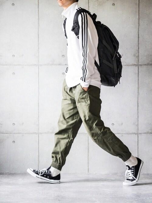 しゅんたろーさんの「マストハブ 3ストライプス ジャケット [Must Haves 3-Stripes Jacket] アディダス(adidas)」を使ったコーディネート