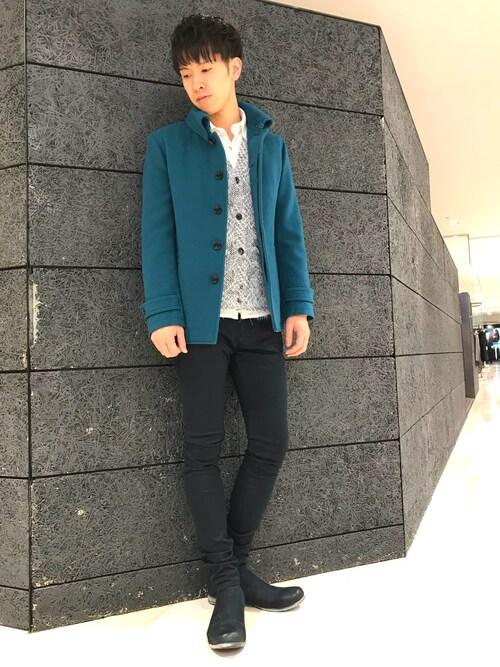 TORNADO MART マルイ大宮店MIYAUCHIさんのテーラードジャケット「Zero by TORNADO MART∴カシミヤ混メルトンジャケット(TORNADO MART|トルネードマート)」を使ったコーディネート
