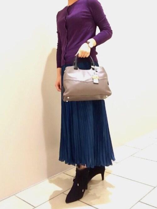 Piche Abahouse名古屋ラシック店MISAKOさんのブーツ「2WAYリボンファーブーツ(PICHE ABAHOUSE|ピシェアバハウス)」を使ったコーディネート