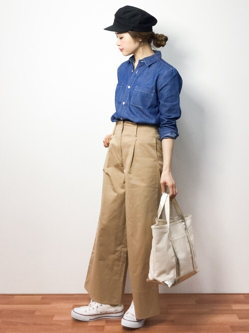 isaさんの「FORK&SPOON Chambray Work Shirt(URBAN RESEARCH DOORS WOMENS)」を使ったコーディネート