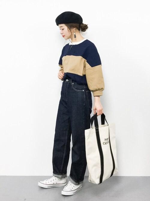 ZOZOTOWNisaさんのTシャツ/カットソー「【WEB限定】ビッグシルエットラガーシャツ(FREAK'S STORE|フリークスストア)」を使ったコーディネート