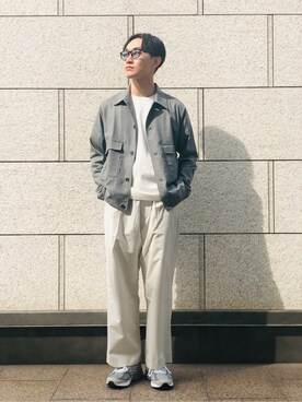 URBAN RESEARCH|UR MENS STAFFさんの「R/W Double Pocket Blouson(URBAN RESEARCH)」を使ったコーディネート